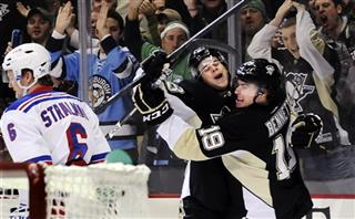 Rangers Penguins Hockey