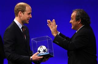 Prince William, Michel Platini