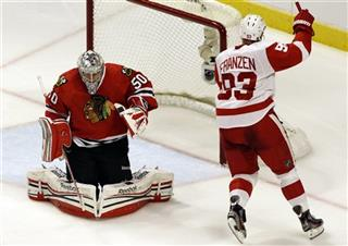 Corey Crawford, Johan Franzen