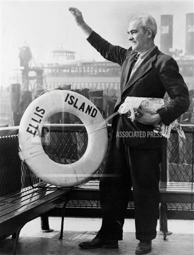 Watchf Associated Press Domestic News  New York United States APHS163808 Last Immigrant To Ellis Island 1954