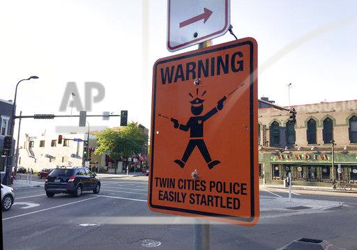 Police Shooting Minneapolis Fake Signs