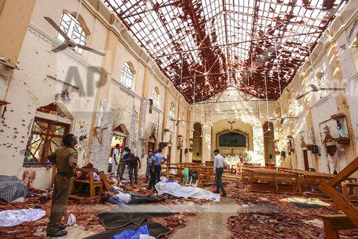 APTOPIX Sri Lanka Church Blasts