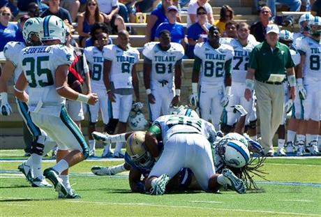 Tulane Player Hurt Football