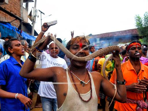Jhapan Festival in Silli, India - 18 Aug 2019