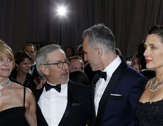 Kate Capshaw;Steven Spielberg;Daniel Day-Lewis;Rebecca Miller