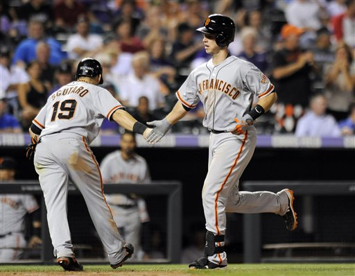 Marco Scutaro, Buster Posey