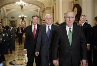 Mitch McConnell, John Barrasso, Mike Pence