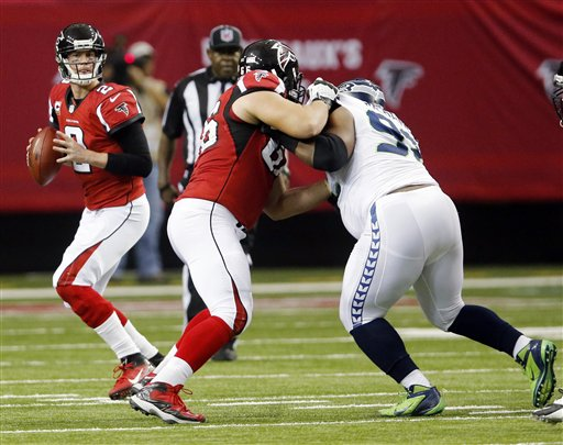 Peter Konz , Brandon Mebane, Matt Ryan