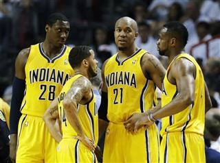Ian Mahinmi, D.J. Augustin, Sam Young, David West