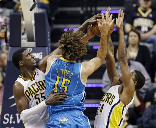 Roy Hibbert, Robin Lopez, Paul George