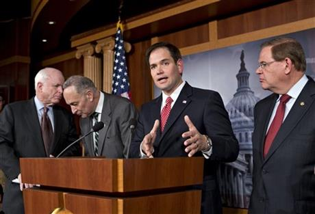 John McCain, Charles Schumer, Marco Rubio, Robert Menendez