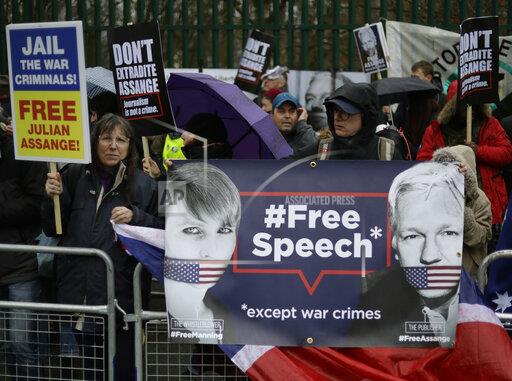 Britain Assange Protest