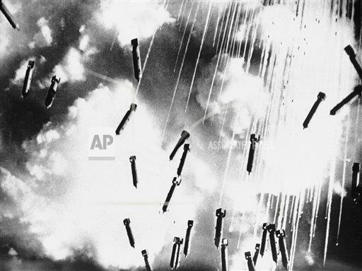 Watchf AP I   XIF APHSL25640 WWII Bombs Dropped On Germany