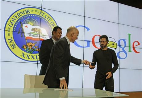 Edmund G. Brown Jr., Sergey Brin, Alex Padilla