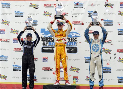 Ryan Hunter-Reay, Ryan Briscoe, Simon Pagenaud
