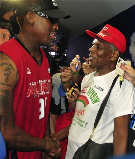 Philippines Rodman Meets Father