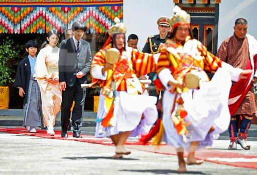 Japanese crown prince's family in Bhutan