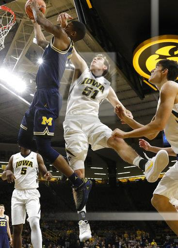 APTOPIX Michigan Iowa Basketball