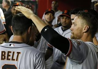Hunter Pence, Brandon Belt