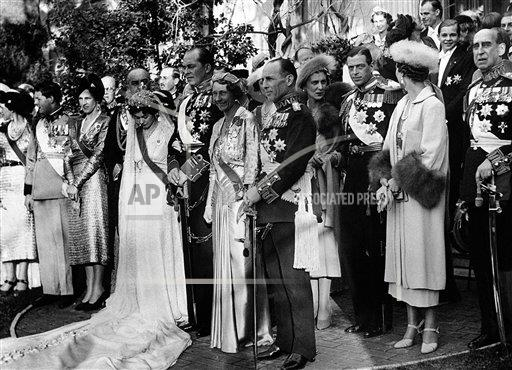 Watchf AP I   GRC APHSL48229 Greece Royal Wedding of Prince Paul