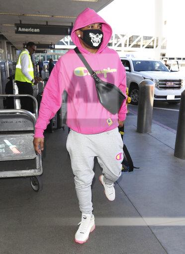 Nelly is seen at LAX Airport in Los Angeles - 2/26/20