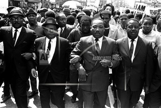 Associated Press Domestic News Tennessee United States CIVIL RIGHTS LEADERS MARCH