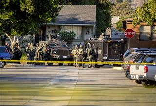 APTOPIX California Shooting-Poll Lockdown-The Latest