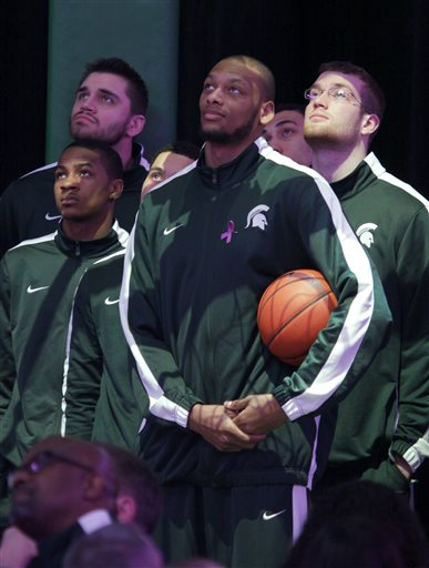 Adreian Payne, Keith Appling, Alex Gauna, Matt Costello