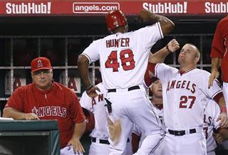Torii Hunter, Mike Trout, Mike Scioscia