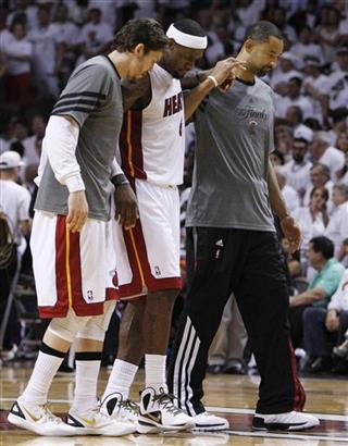 Mike Miller, LeBron James, Juwan Howard