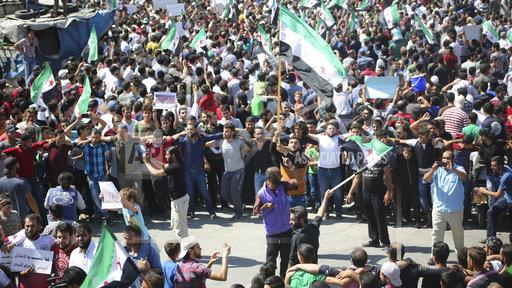 Protest against military campaign in Idlib
