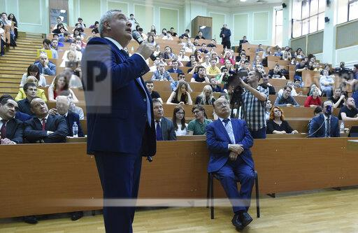 Open lecture by Dmitry Rogozin, Director General of the State Corporation for Space Activities Roscosmos, at the Lomonosov Moscow State University.