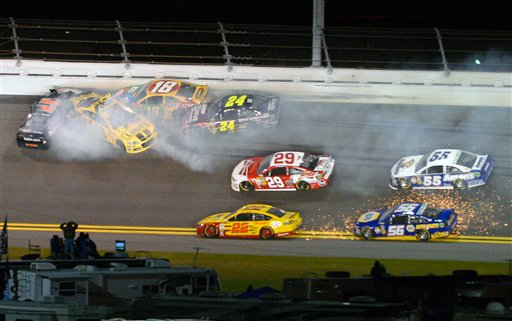 Denny Hamlin, Jimmie Johnson, Kyle Busch, Jeff Gordon