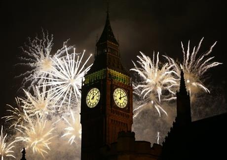 APTOPIX Britain New Year's Celebrations