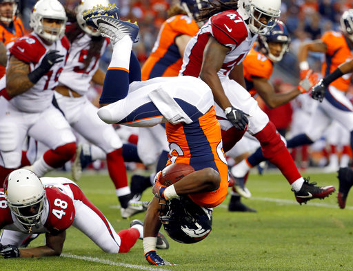 APTOPIX Cardinals Broncos Football