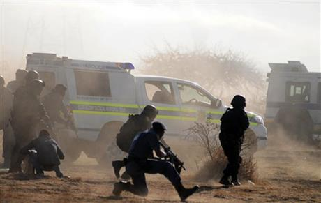 APTOPIX South Africa Mine Violence