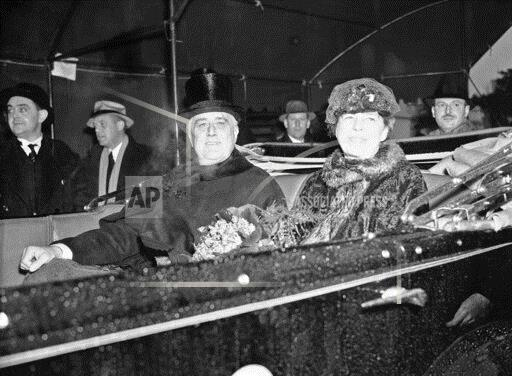 Watchf Associated Press Domestic News  Dist. of Col United States APHS183827 FDR Inaugural Parade 1937