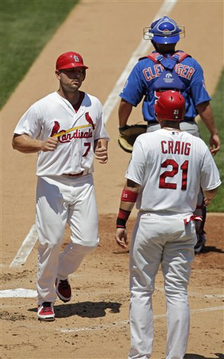 Matt Holliday, Allen Craig, Steve Clevenger