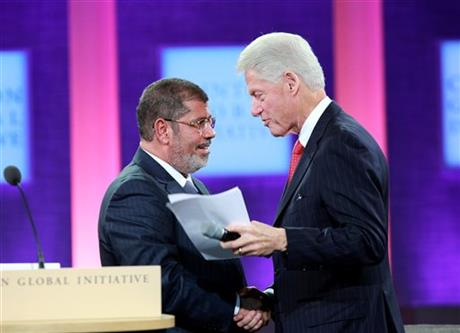Mohamed Morsi, Bill Clinton