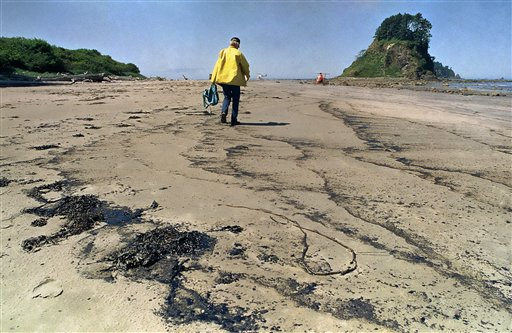 Oil Spill off Washington coast