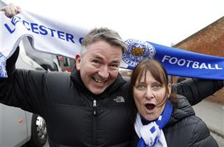 Britain Soccer Leicester Fans