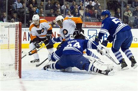 Wayne Simmonds; James Reimer; Danny Briere; Korbinian Holzer