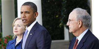 Barack Obama, Hillary Rodham Clinton, George Mitchell