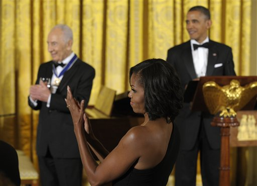 Barack Obama, Shimon Peres, Michello Obama