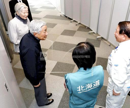 Japan's Imperial Couple visits Hokkaido for inquiry of earthquak
