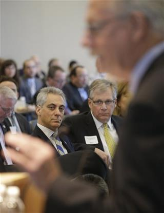Doug Oberhelman, Rham Emanuel, Pat Magoon