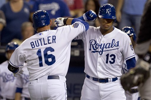 Billy Butler, Salvador Perez