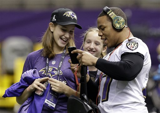 Jerry Rice Daughter http://pro32.ap.org/content/ray-rice-margaret-rosburg-alison-harbaugh