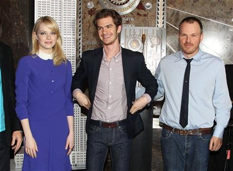 The Amazing Spider-Man Cast Lights the Empire State Building Red and Blue as part of SPIDER-MAN WEEK NYC 