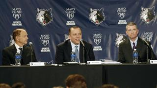 Tom Thibodeau, Glen Taylor, Scott Layden